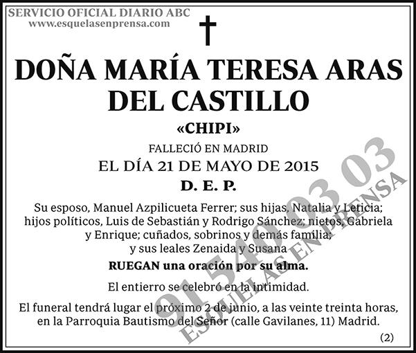 María Teresa Aras del Castillo